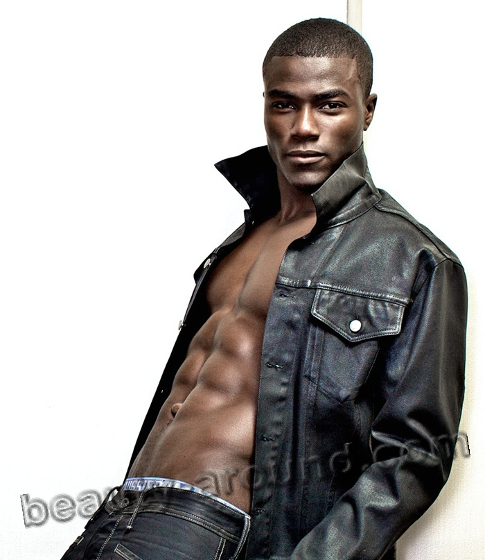 Remi Alade-Chester handsome African male model photo