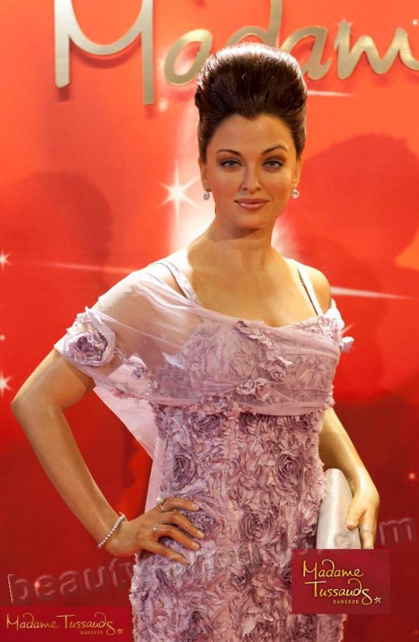 Aishwarya Rai wax figure at Madame Tussauds museum