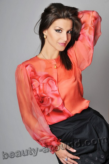 Beautiful Albanian Women. Floriana Garo Albanian TV host and model