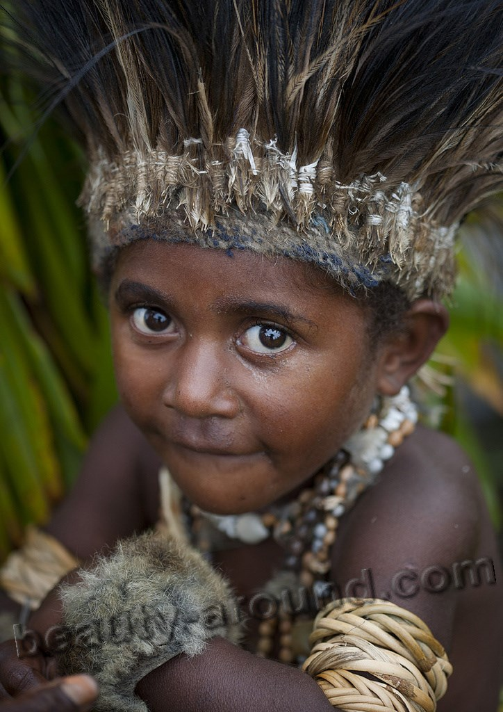 Papuan boy from Papua New Guinea picture