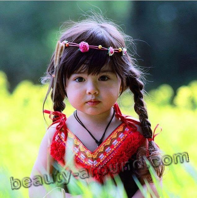Beautiful Mongolian baby girl photo