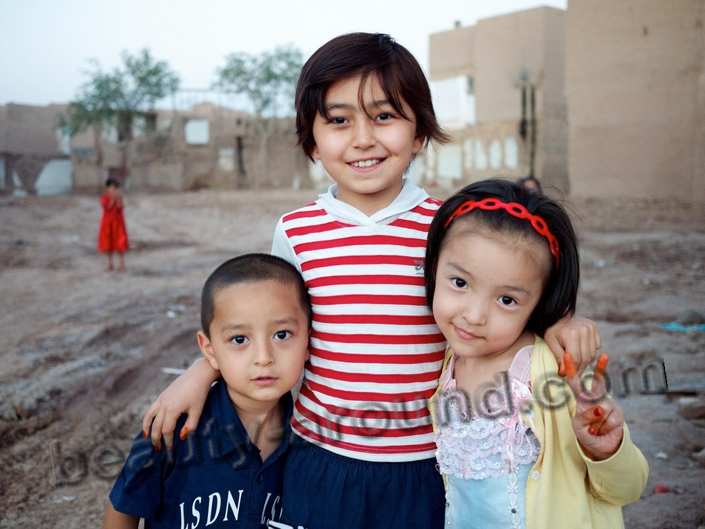 Uighur children photo