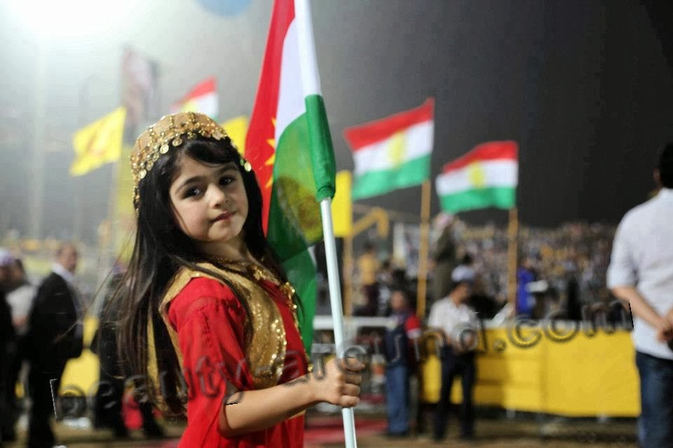 Beautiful little Kurdish girl photo