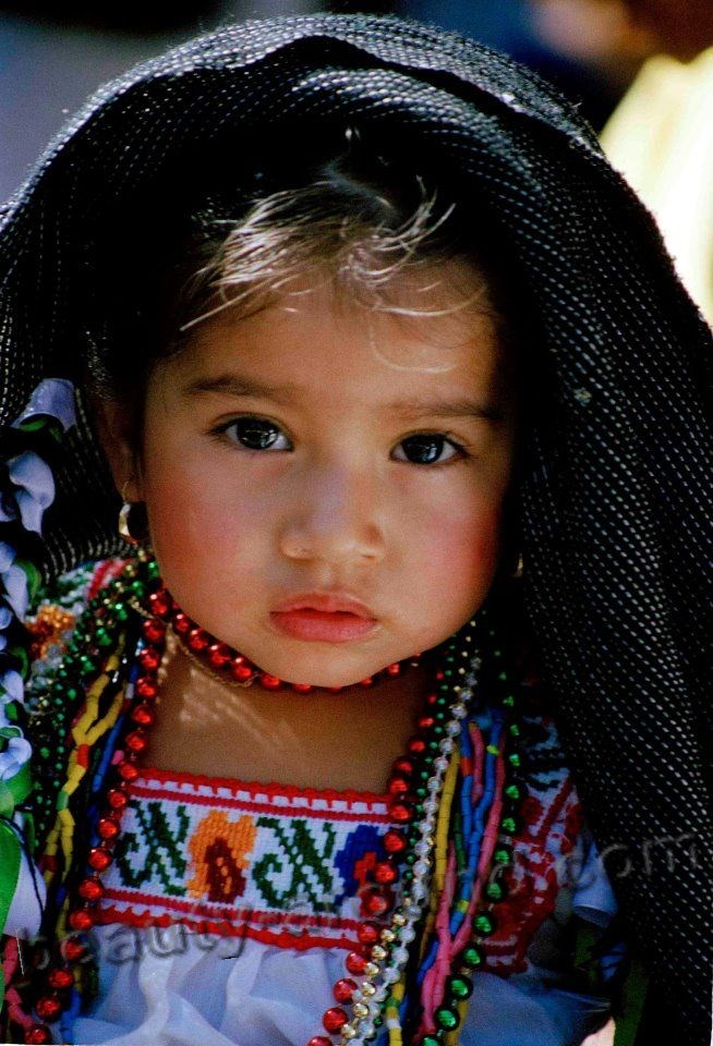 Cute Mexican baby girl photo