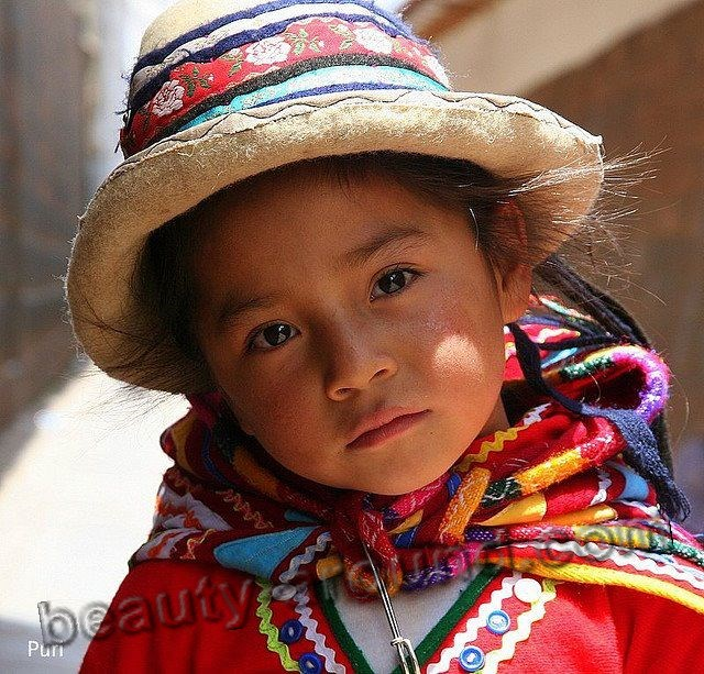 Peruvian baby girl photo