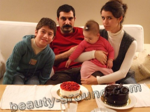 Beren Saat with Turkish actor - Bulent Inal