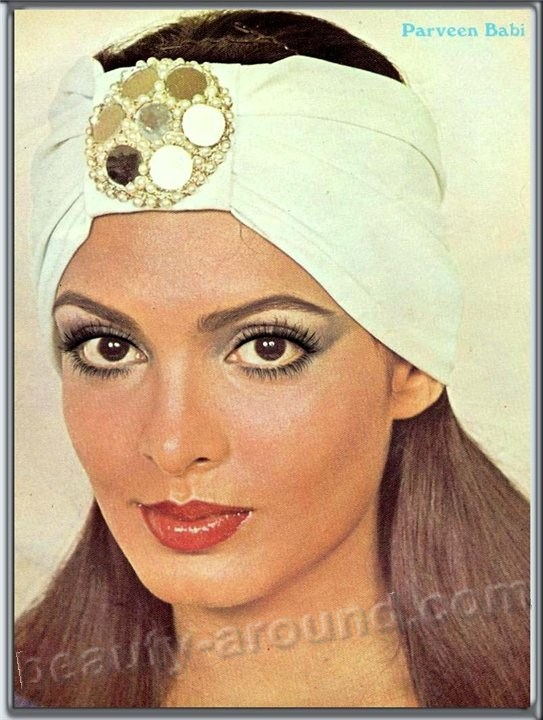 List of Beautiful Indian actresses: Parveen Babi iconic Indian actress photo