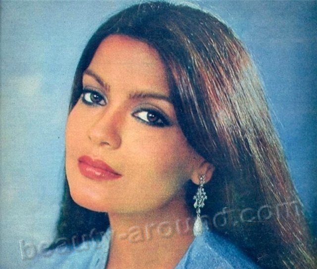 Zeenat Aman Indian actress Miss Asia Pacific 1970 photo