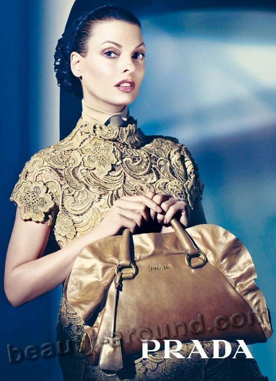 Модель Линда Евангелиста /linda evangelista лицо бренда Прада / Prada фото