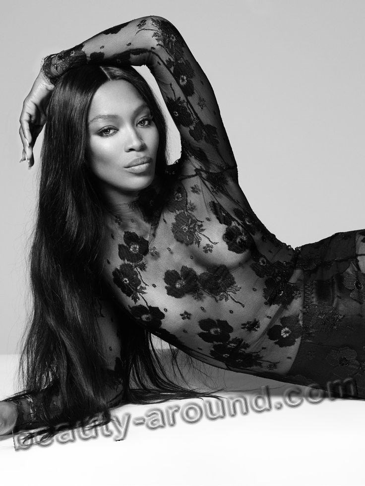 Naomi Campbell nice British model photo