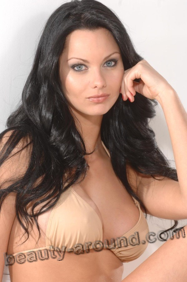 Beautiful British Women Jessica Jane Clement, British model, actress and TV host