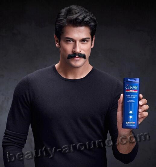 Burak Ozcivit advertising shampoo photo