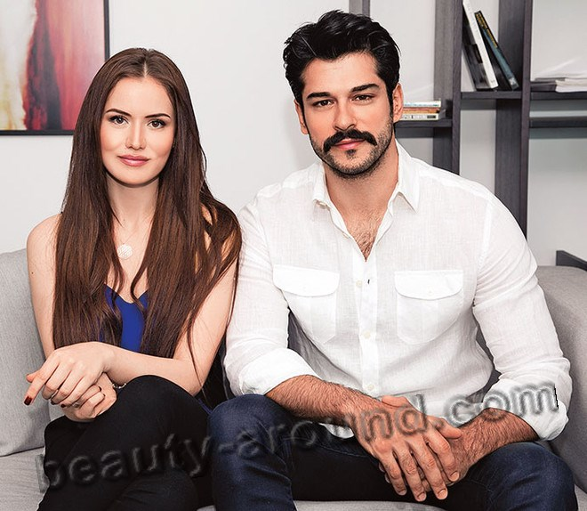 Burak Ozcivit and Fahriye Evcen photo together