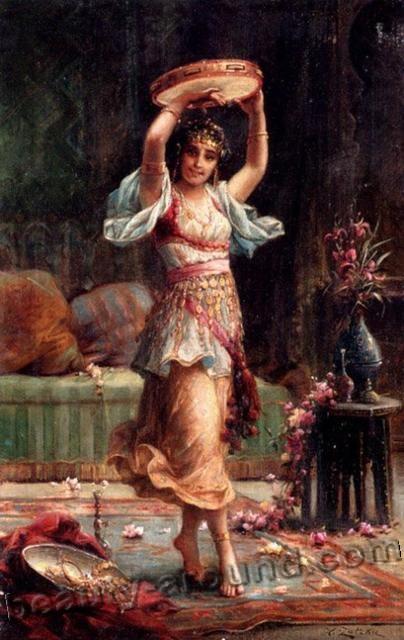 картина танца живота, рисунки, танцовщицы в гареме