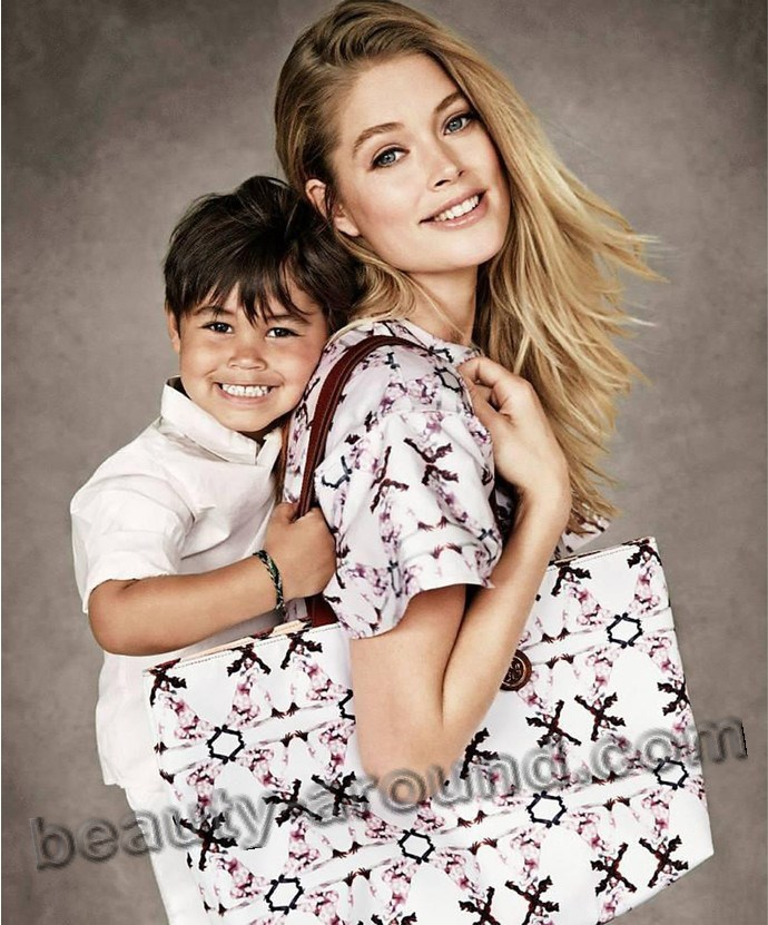 Doutzen Kroes and her son Phyllon Joy Gorre photo