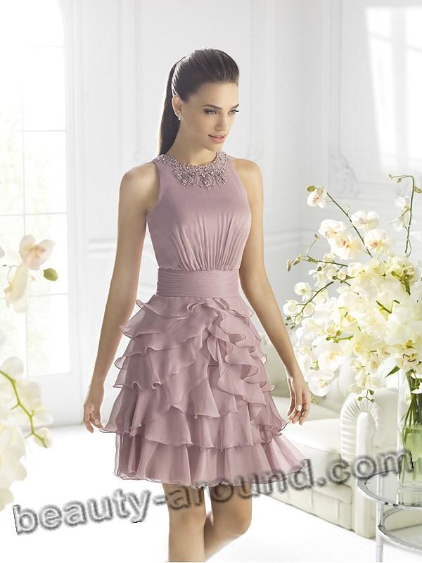 Короткое шифоновое платье для выпускного бала фото
