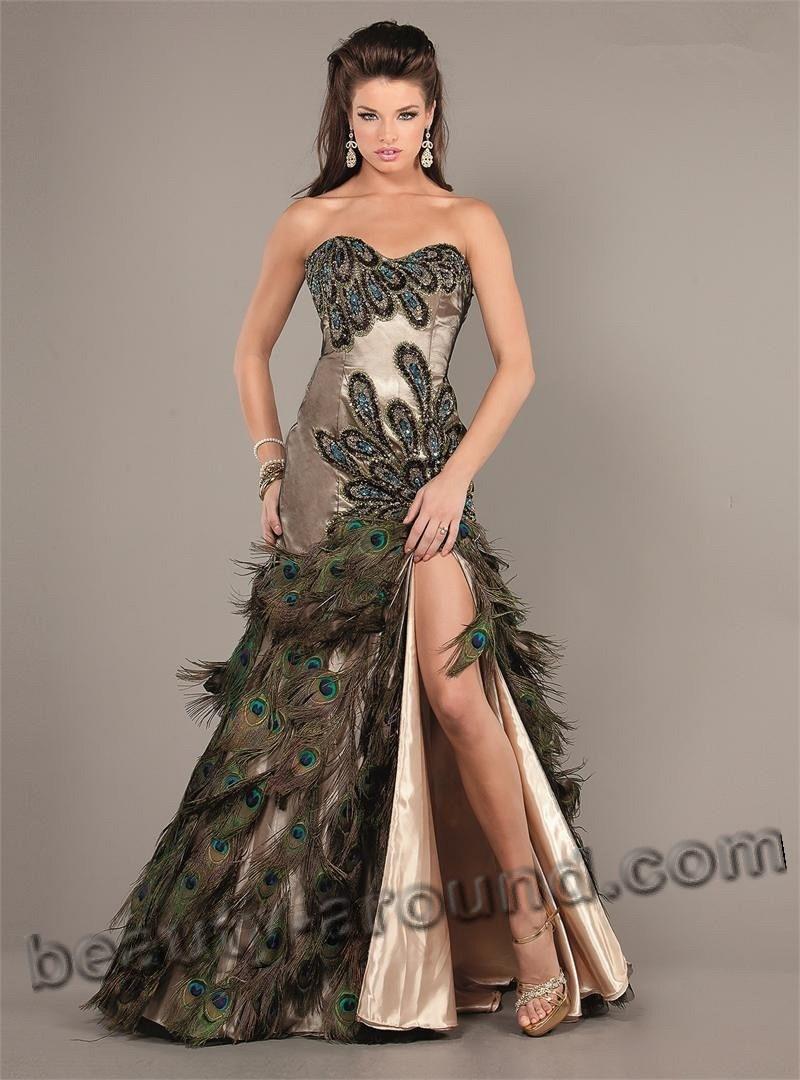 Самое яркое платье в стиле фьюжен для выпускницы фото