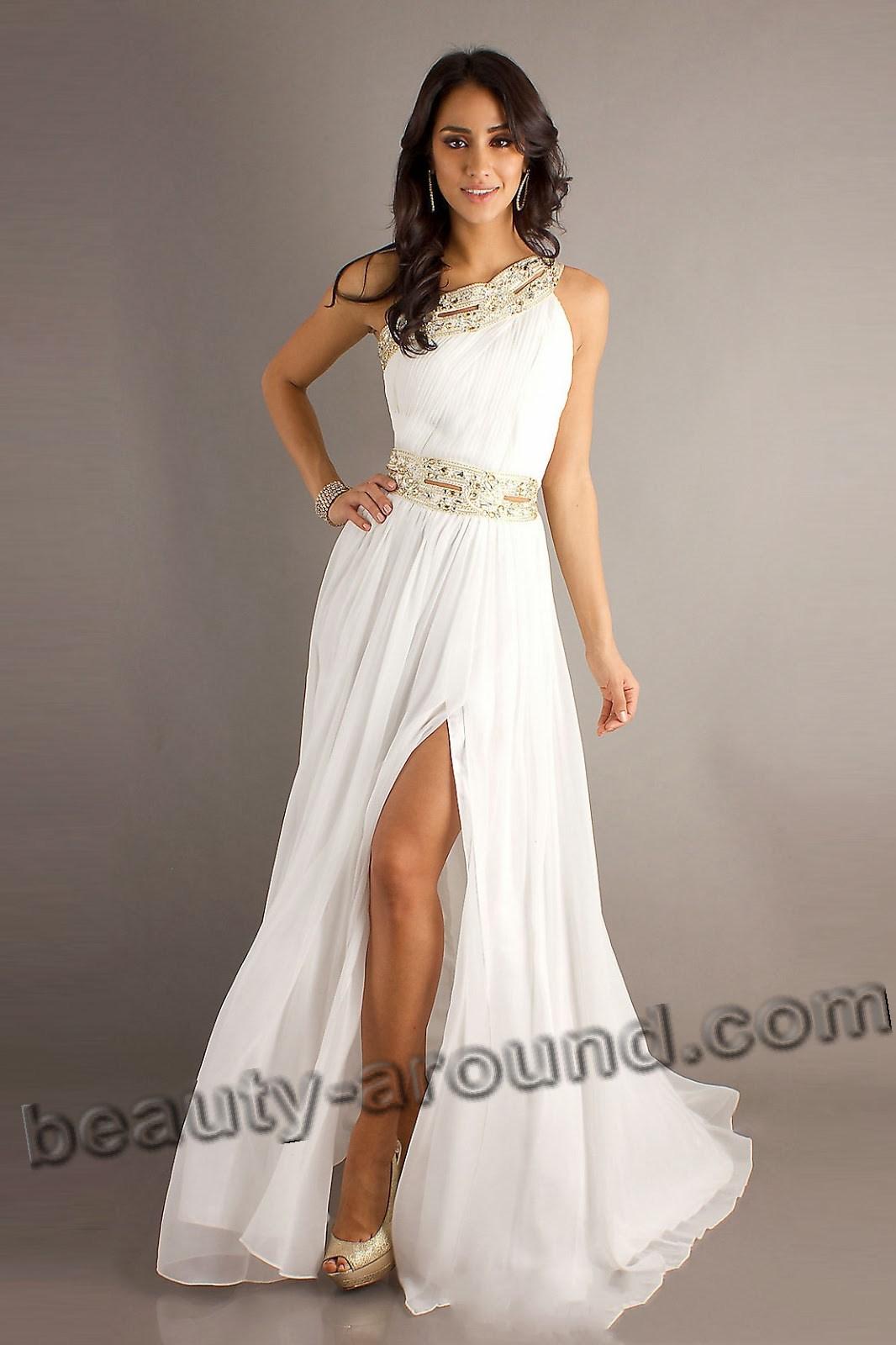 платья в греческом стиле для выпускного фото