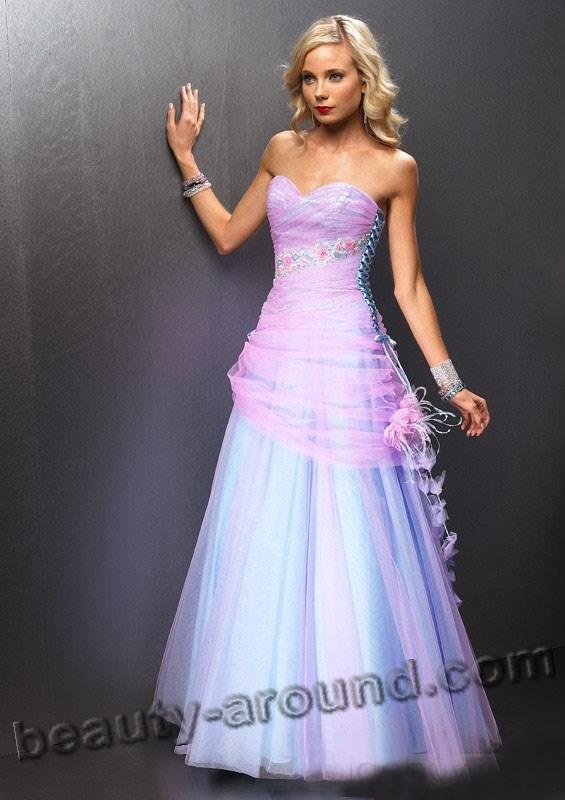 Розовое платье для выпускницы фото