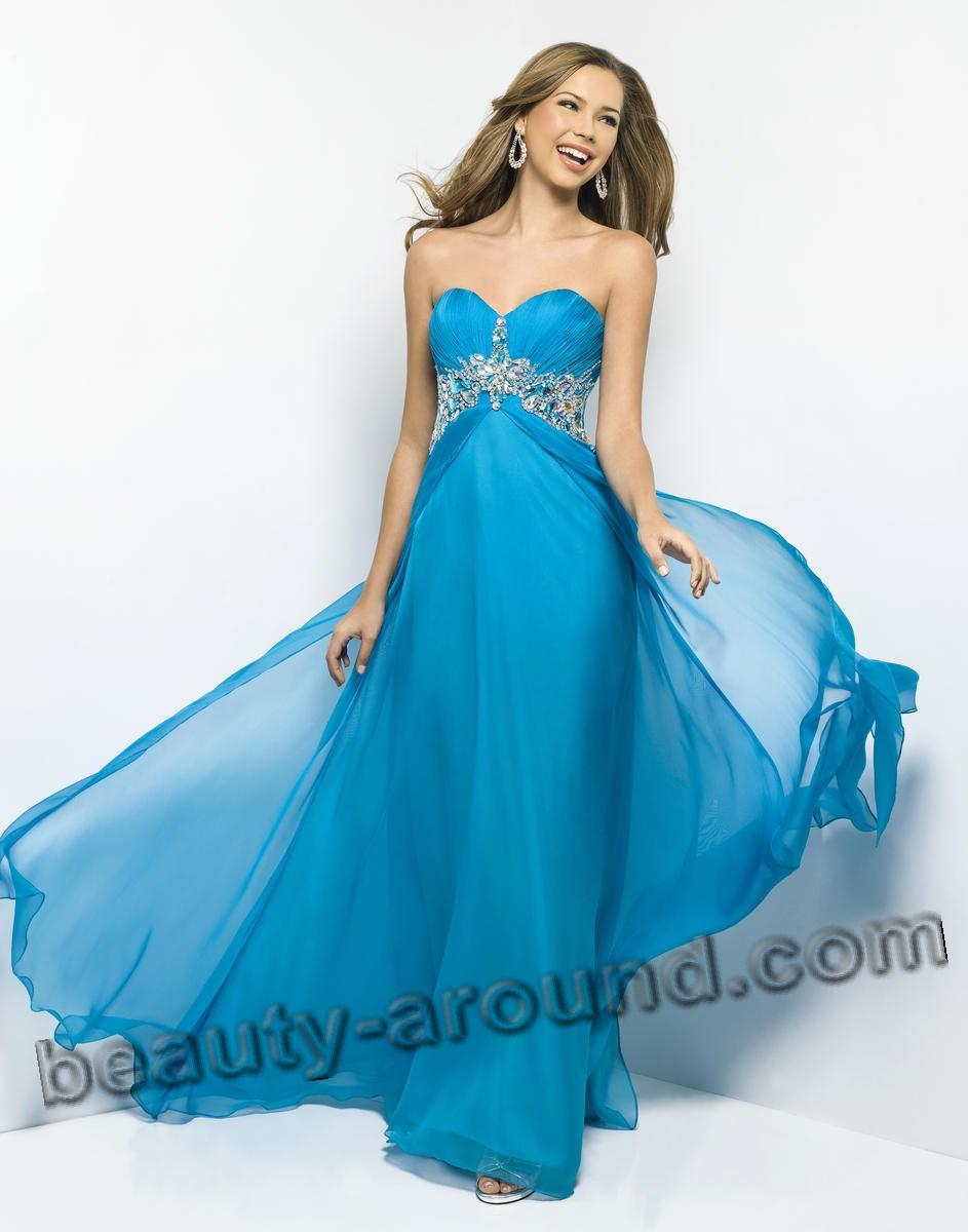 Лёгкое шифоновое платье для выпускного бала фото