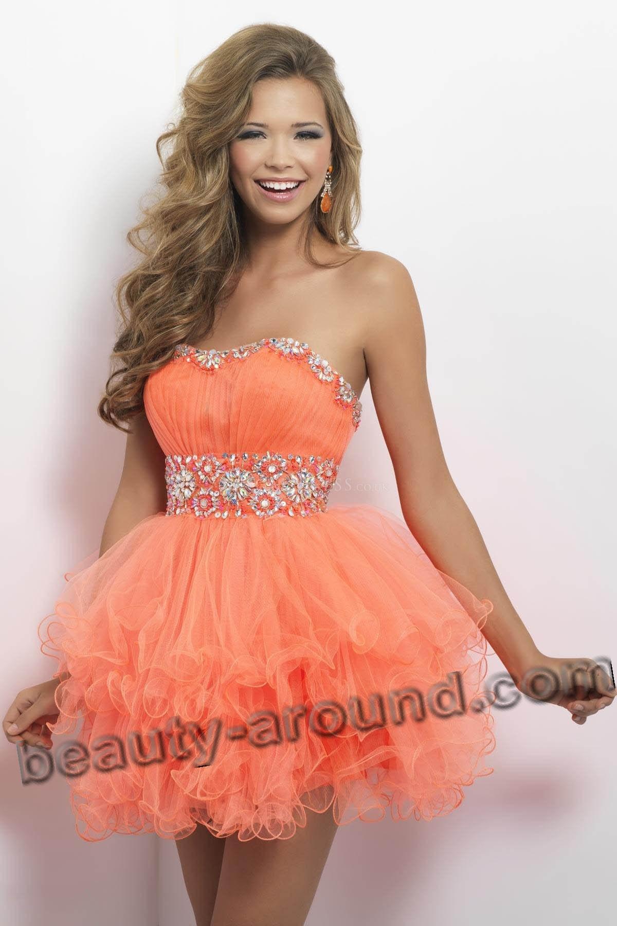 платье для выпускного стиле Беби Долл фото