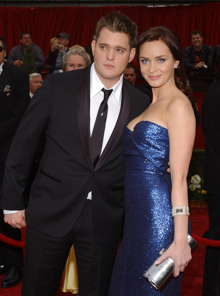 Emily Blunt boy friend Michael Buble photo together