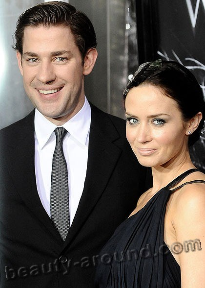 Emily Blunt with John Krasinski photos