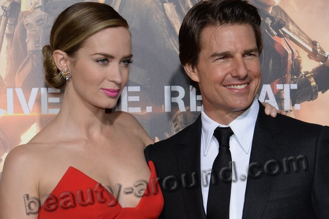 tom kruz and emily blunt photos