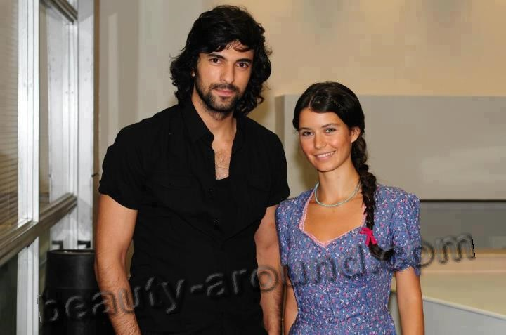 Engin Akyurek with Beren Saat photo