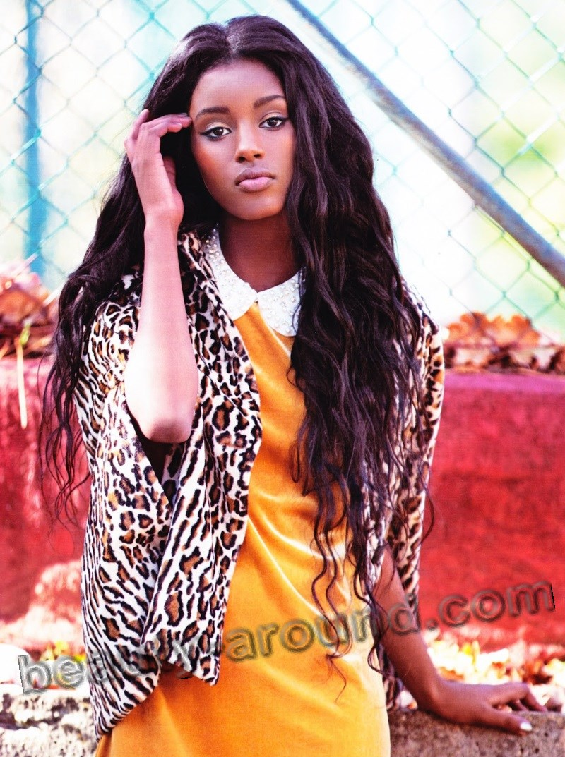 Cute Ethiopian model Senait Gidey photo
