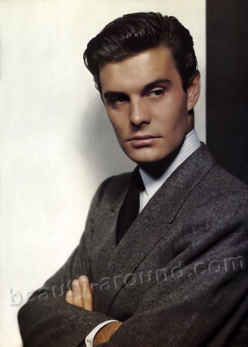 Louis Jourdan famous handsome french actor
