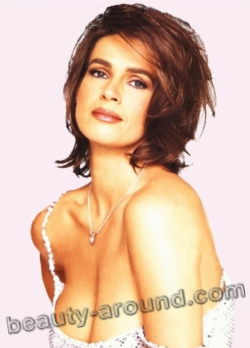 Katarina Witt is a retired German figure skater and model photo