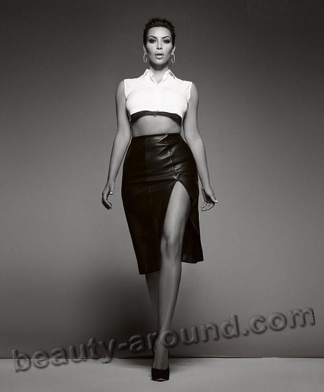 Ким Кардашян фигура с пышными формами фото