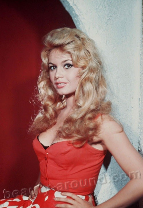 Brigitte Bardot  French female singer, actress, fashion model