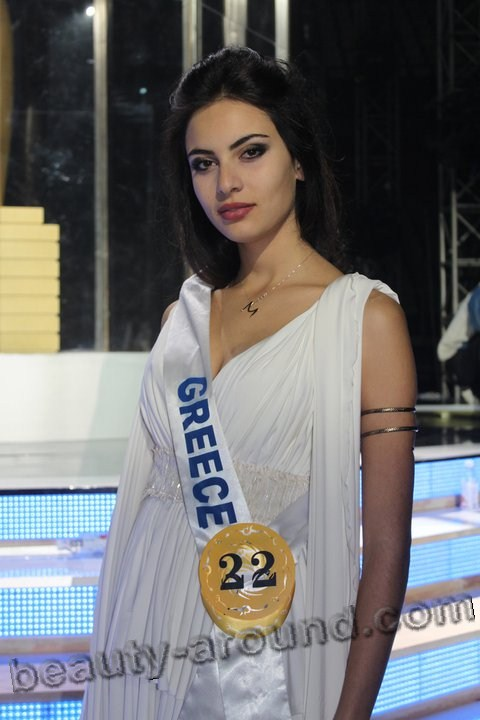 Beaurtiful Greek Women Maria Tsagkaraki  Greek model, miss Greece 2012