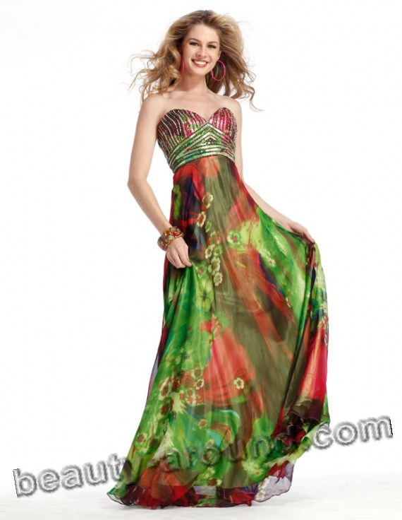 bright green evening dresses photos