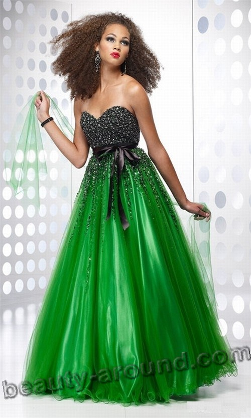 best green evening dresses photos