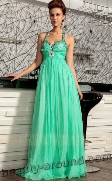 modern green evening dresses photos