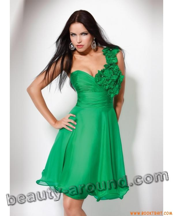 beautiful green evening dresses photos