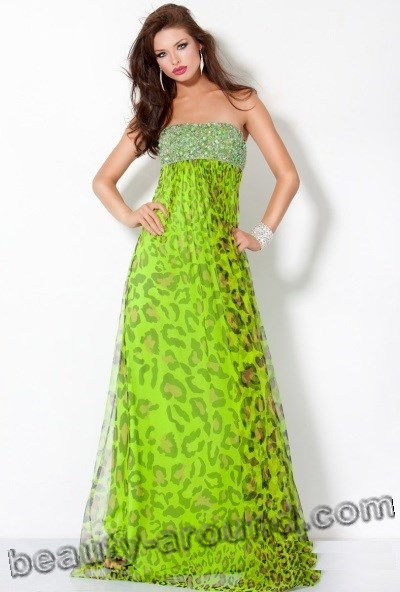 cocktail green evening dresses photos
