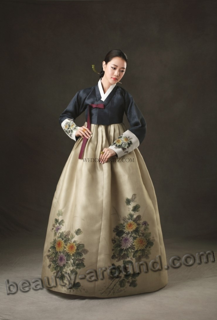 how to put on a hanbok