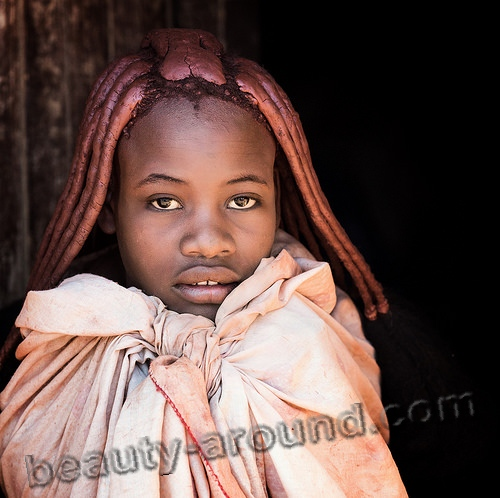 Young girls of the Himba tribe