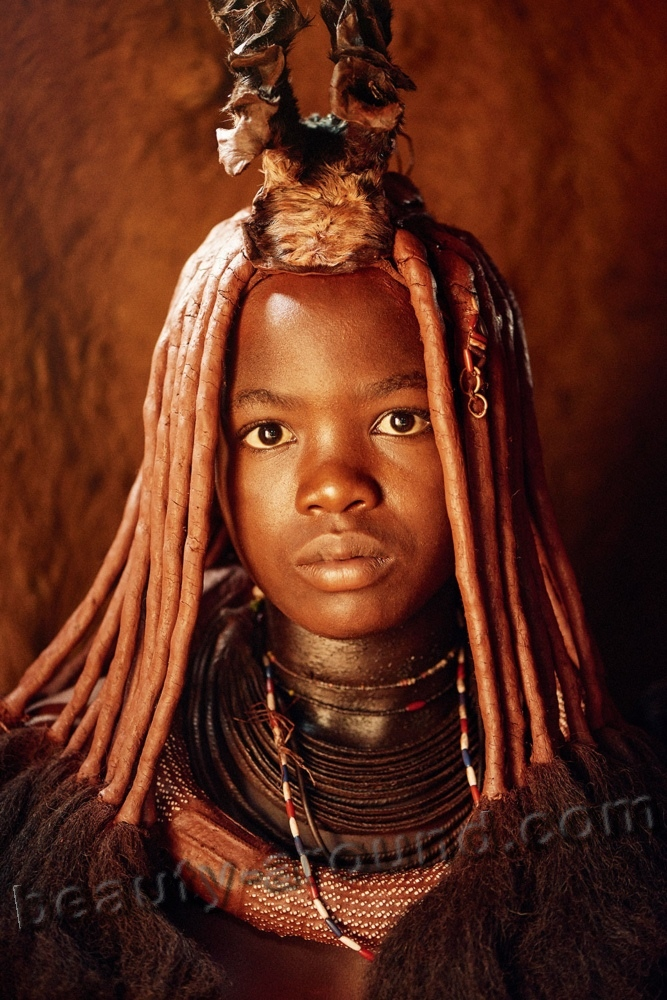 Young girls of the Himba tribe picture