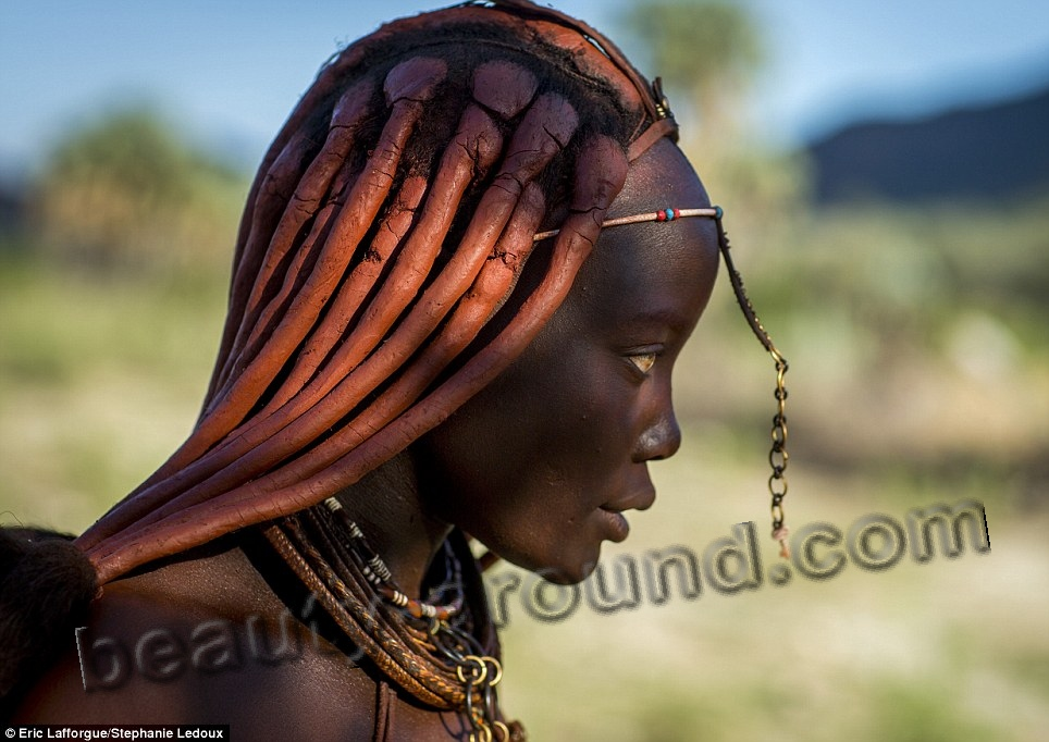 Himba girl in profile