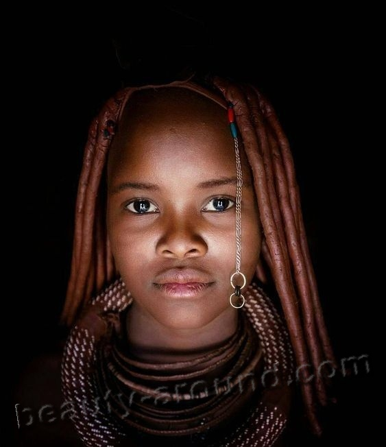 beautiful himba woman photo