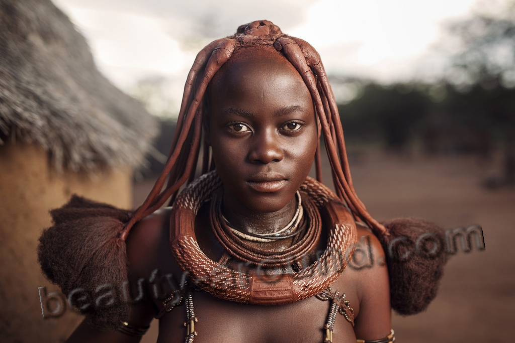 Himba women of Namibia photo