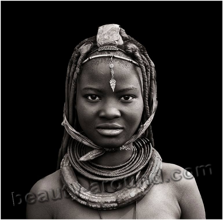 young himba woman photo