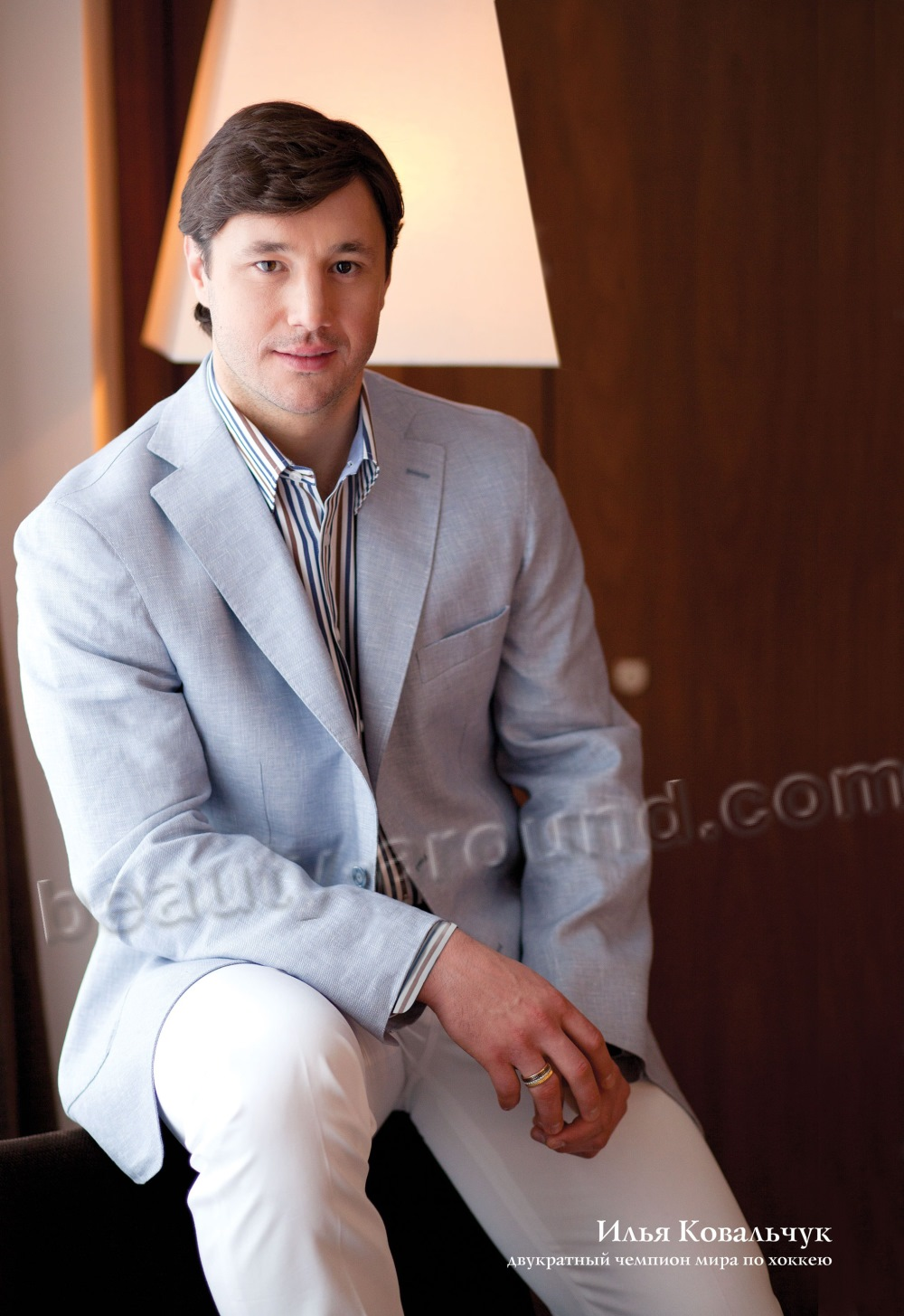 Ilya Kovalchuk is a Russian professional hockey player photo