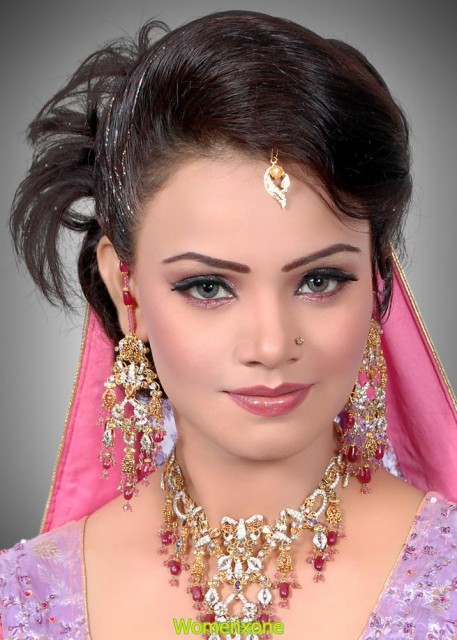 Indian beautiful jewelry and makeup