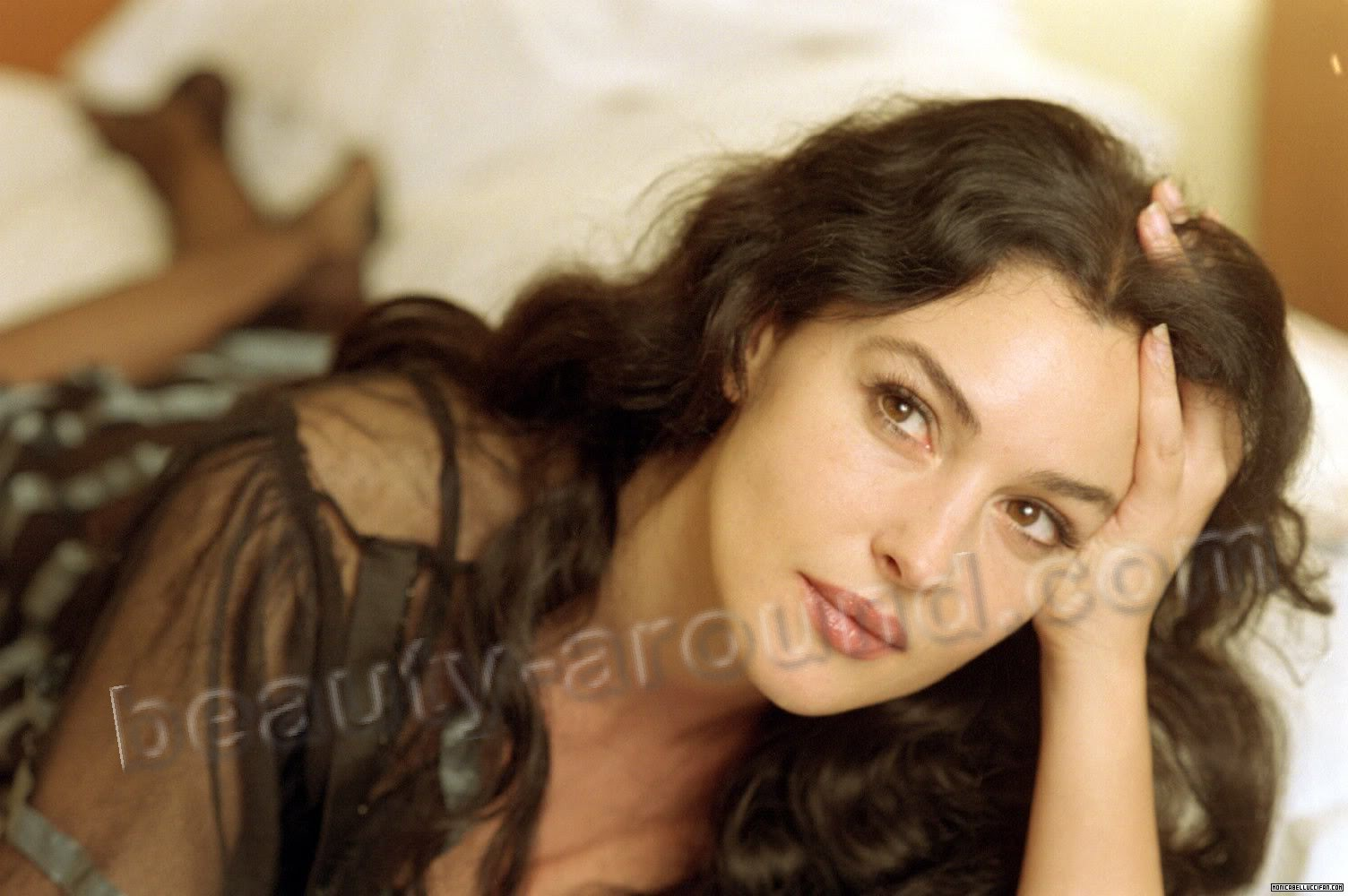 Monica Bellucci famous beautiful italian model and actress